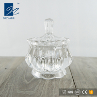 Hot Sale Lead Free Crystal Glass Sugar Bowl With Lid