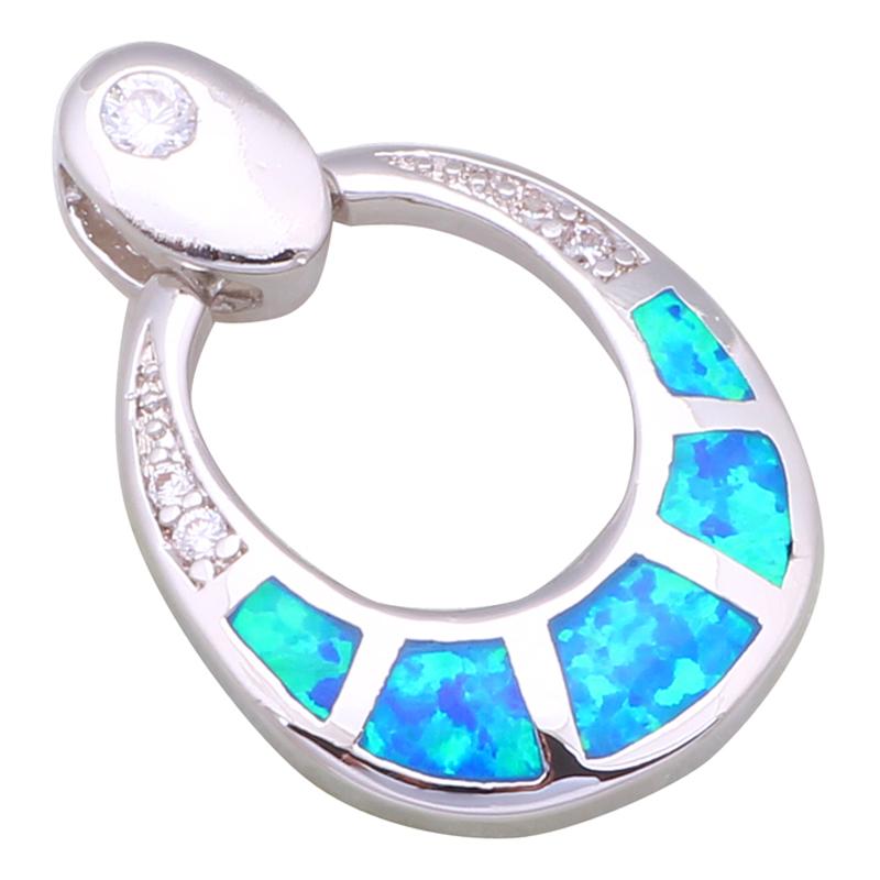 Очарование мода 2016 новый ювелирные изделия белый топаз голубой опал женские кулоны дана P128