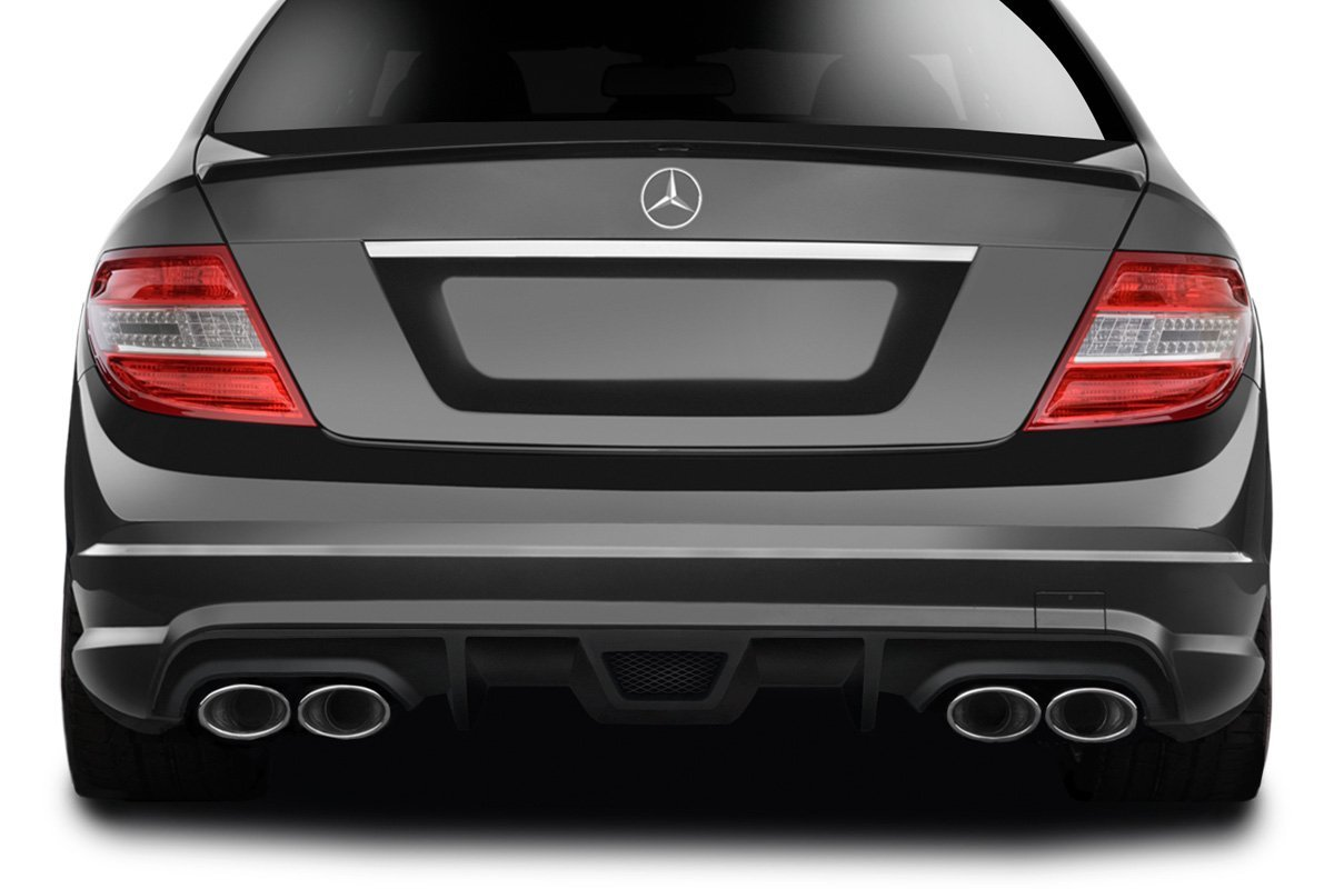 Get Quotations · 2008-2011 Mercedes Benz C63 / C Class Sport Models AF-1  Rear Diffuser