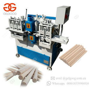 Automatic Industrial Easy Opearate Wooden Broom Stick Handle Mop Rod Forming Wood Round Stick Making Machine