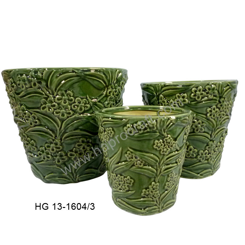 Round Ceramic Flower Pots Pot Design For Garden Decor Hg 13 1604 3