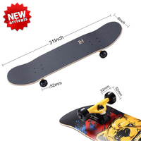 "Big new !31*8"" top quality skate board,custom skate board deck ,Wholesale skateboard deck"