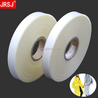 China factory best selling cheap price 0.08mm thick strong adhesion hot melt waterproof transparent seam sealing tape for fabric