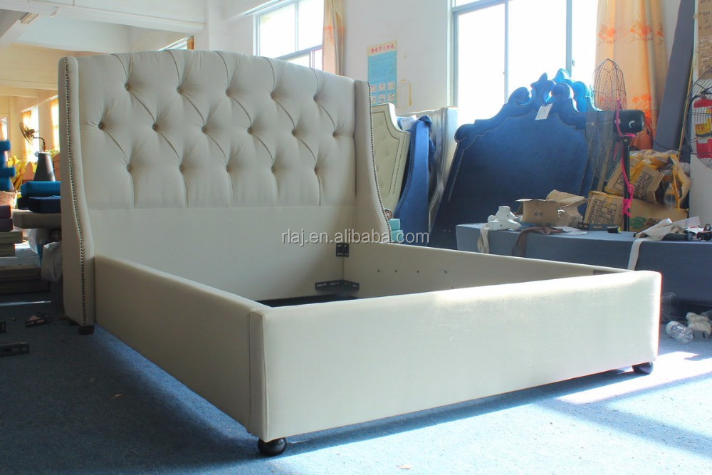 China Online Bed Furniture Stores The Latest Modern Double Beds Design