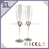 Personalised Anniversary Gifts Birde And Groom Champagne Flute Glassware Champagne Flute With White Mail Box