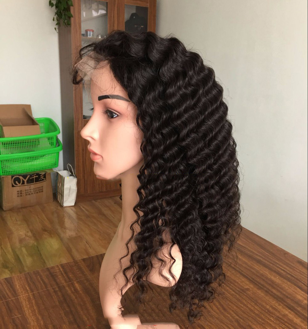 Top grade 100% brazilian virgin remy human hair full lace wig with baby hair