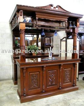 100% Soild Wood Antique Home Bar Cabinet