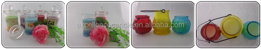 scented art glass jar candle / glass candle with lid with scent