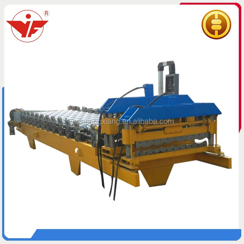 hydraulic press brake glazed tile forming machine making step metal roofing