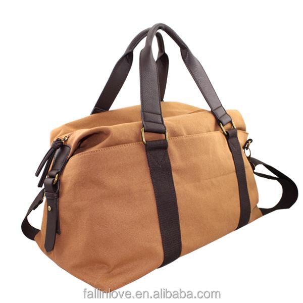 Man Weekend Bag Male Travel Canvas Handbag With Cotton Shoulder ...
