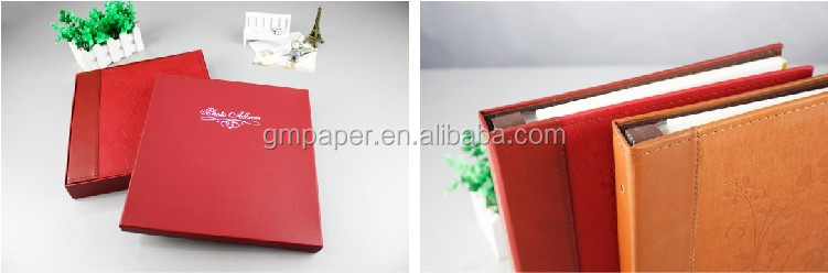 GuanMei Two Color choose photo album Post Bound Photo Album With PU Weave Cover