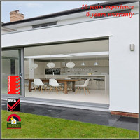 Best price sliding glass doors with built in blinds with CE,SGSS,INMETRO