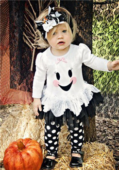 New design kids halloween clothing children boutique set halloween boutique outfits