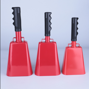Wholesale custom sports cow bell with handle for sporting events ,manufacturer of 12 year from China