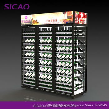 528 bottles DIY Wine Cellar/Glass Door Wine Cooler/Display Fridge