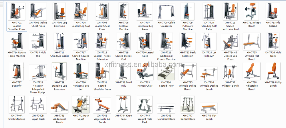 Pectoral Machine Chest Press Gym Equipment Names View