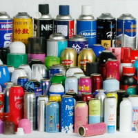 Various Color Mini Aluminium Aerosol Spray Can