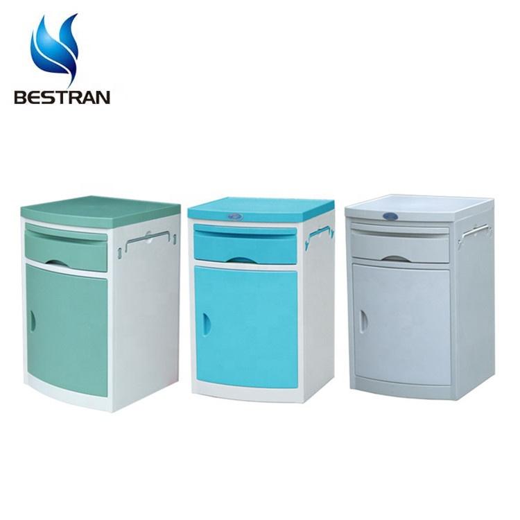 BT-AL001 Cheap mobile ABS plastic bedside cabinet, medical bedside locker for sale