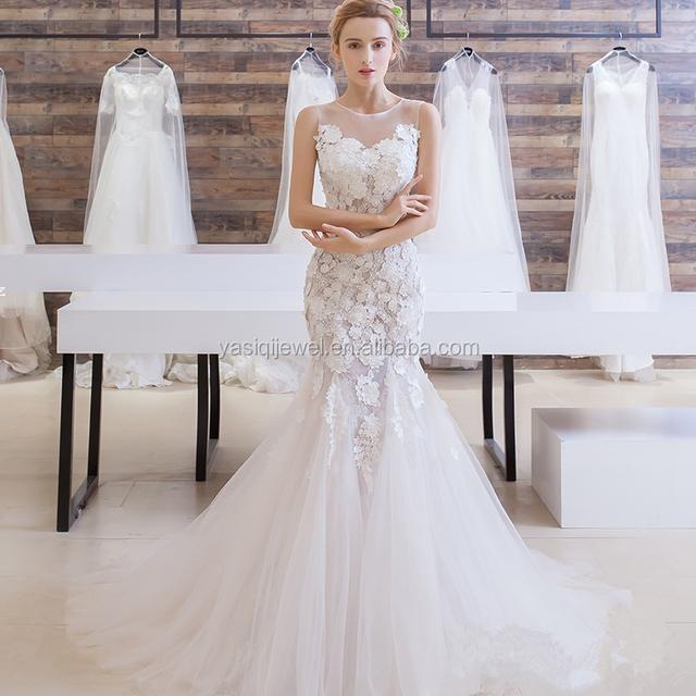 Cheap Bulk Sell Handmade Sexy Wedding Dress Mermaid