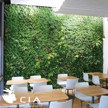 Synthetic Vertical Green Wall Artificial Grass Wall