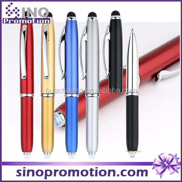 metal cap and barrel ballpoint pen capactive stylus ballpoint pen for all touch screens devices ,ballpoint pen with led light