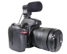 Black Mini External Directional Stereo Microphone Mic-109 for 3.5mm Mic Jack Canon/Nikon/Sony/Pentax DSLR cameras & DV Camcorder