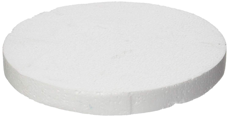"Oasis Supply 746949 Dummy Round Cake, 9"" x 1"", White"