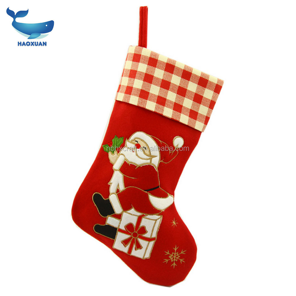 Christmas gift bag 2017 indoor Christmas decorations Santa Claus pattern Christmas socks