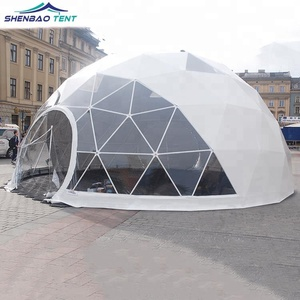 differently 9bb16 675b1 Factory Supplier Soundproof Large Party Aluminum Event Geodesic Dome Tent  with Half Transparent PVC for Outdoor