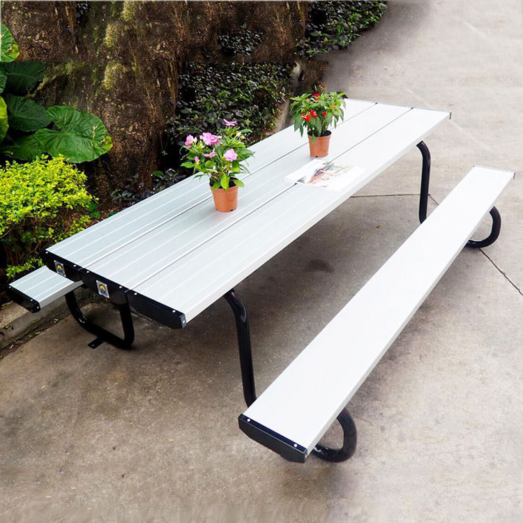 Swell Powder Coated Outdoor Metal Picnic Table With Two Benches Garden Table Chairs Sale Buy Garden Table Chairs Sale Outdoor Picnic Table With Two Lamtechconsult Wood Chair Design Ideas Lamtechconsultcom