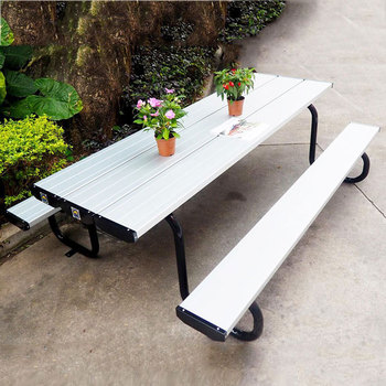 Powder coated outdoor metal picnic table with two benchesgarden powder coated outdoor metal picnic table with two benchesgarden table chairs sale watchthetrailerfo