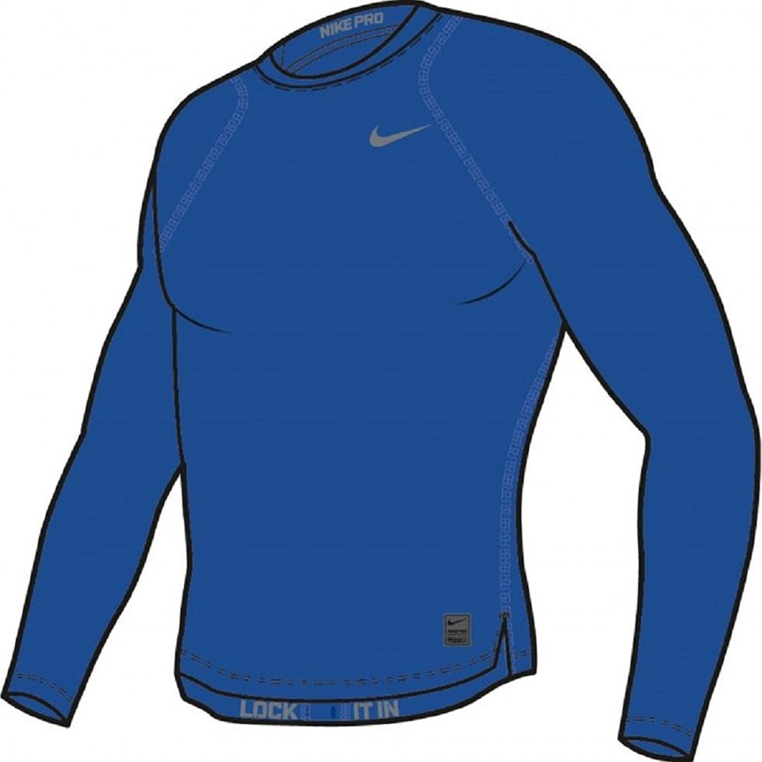 fb175f15 Get Quotations · Nike Pro Cool Compression Men's Long Sleeve Shirt (Game  Royal)