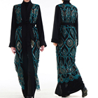 L215 2019 Latest Abaya designs elegant pattern embroidered with sparkling sequins islamic clothing kimono abaya dubai
