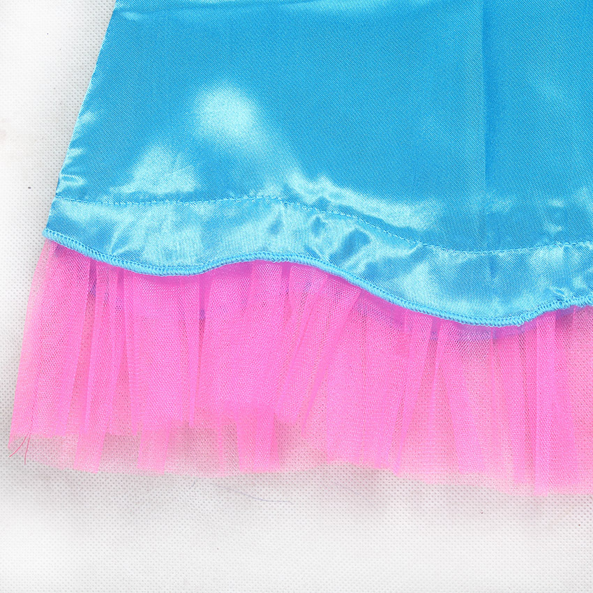 Filme Trolls Papoula Trajes Cosplay Princesa Vestido Da Menina de Cosplay Roupas Halloween Crianças Fantasia Vestido Streetwear Cosplay