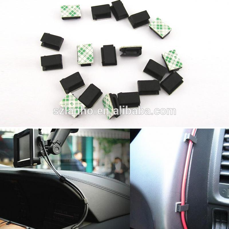 2017 new arrival Self-adhesive base design Plastic Car SUV GPS Data Cable Light Cord Decorative Cord Fixed Clips