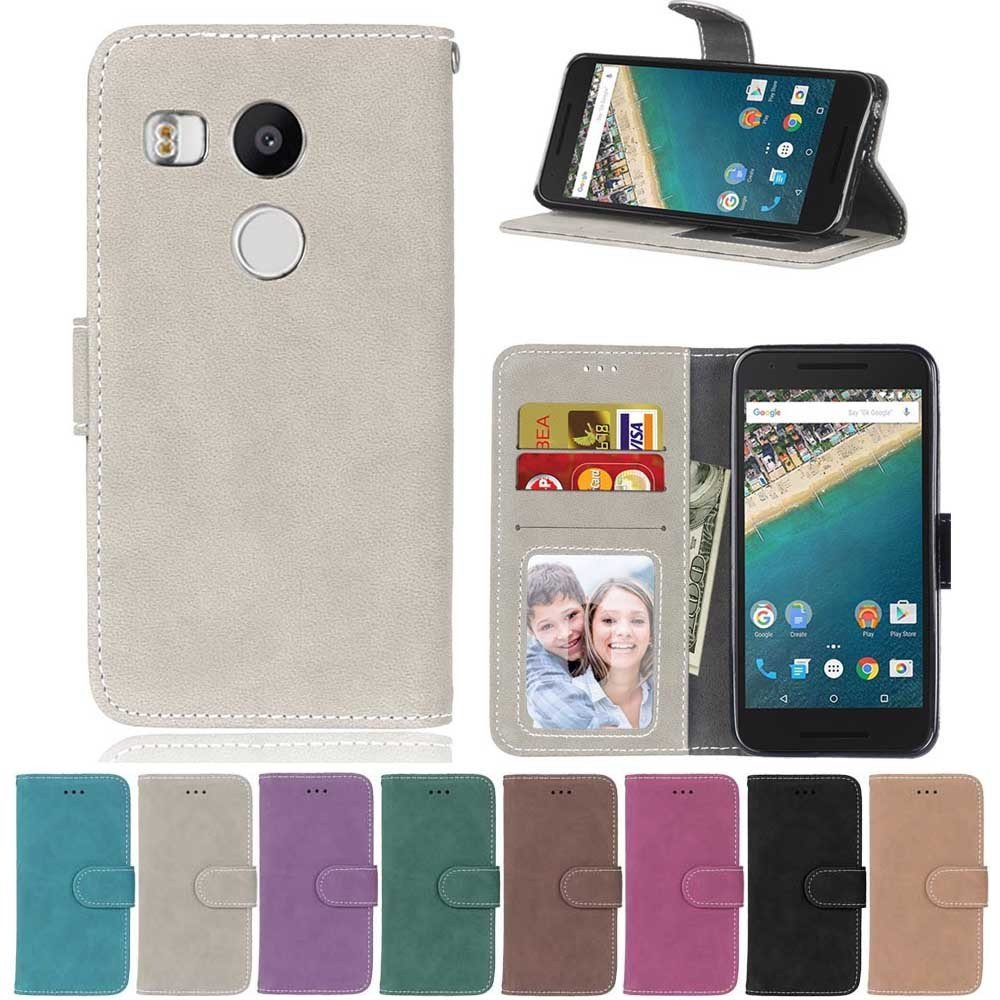 Nexus 5X Case,XYX [Gray][Scrub Series] PU Leather Flip Folio Kickstand Wallet Case with Card Slots for Google Nexus 5X