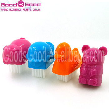 Various Animal Shaped Plastic Nail Brush Dog Dolphin Cleaning