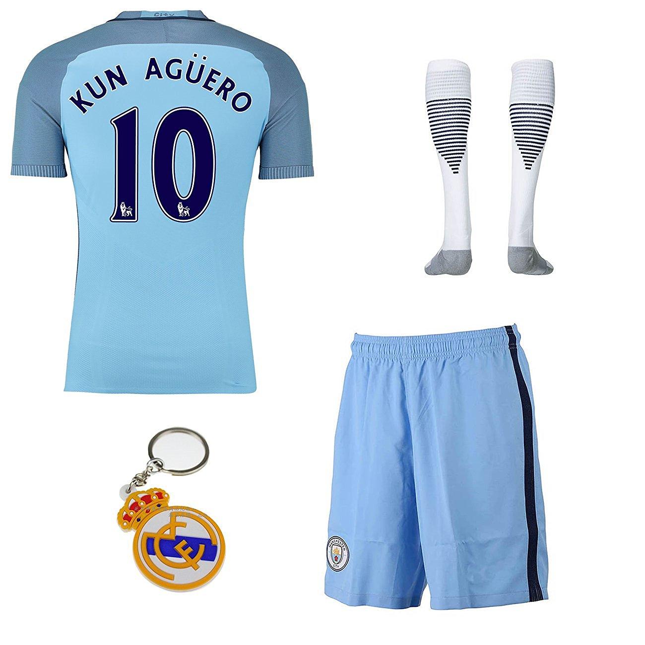 Get Quotations · 2016 2017 Manchester City  10 kun aguero home Soccer  Football Jersey Sportswear Team Polo d096fc0d74746