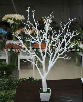 Dry White Trees Without Leave Event Party Decoration Centerpiece Artificial Crystal Tree Wedding Table