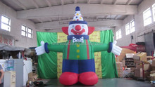 ground decoration inflatable art inflatable clown cartoon