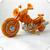 Cute Orange Wire hand Bicycle Lifelike Bike model Cycling Wire Mountain Bike Miniature Bicycle Desk Decoration Children Toy