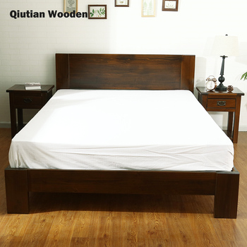 King Size Bed Room Double Bed American Wooden Bed Style Natural Wood Home  Furniture - Buy American Wooden Bed,American Wooden Bed Room Double ...