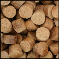 """WIDGETCO 3/8"""" Mahogany Wood Plugs, Face Grain"""