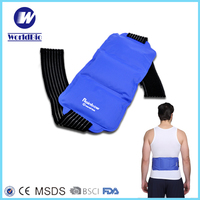 Nylon gel Ice pack waist back wrap with elastic strap for heat cold therapy