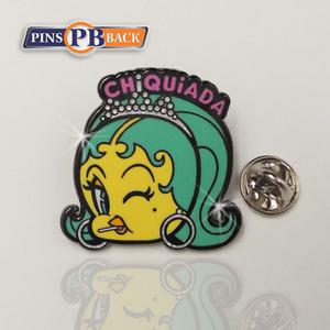 Pinsback beautiful girl cartoon pins enamel as gift for kids or girlfriend  professional enamel pin manufacturer factory price