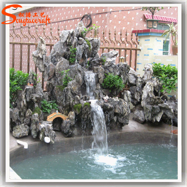 Wedding Party Decoration Resin Water Fountains Fake Stone Walls Garden Small Waterfall Fountains
