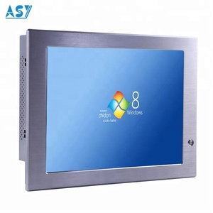 Automation Industrial Embedded Stainless Steel Touch Screen LCD Monitors