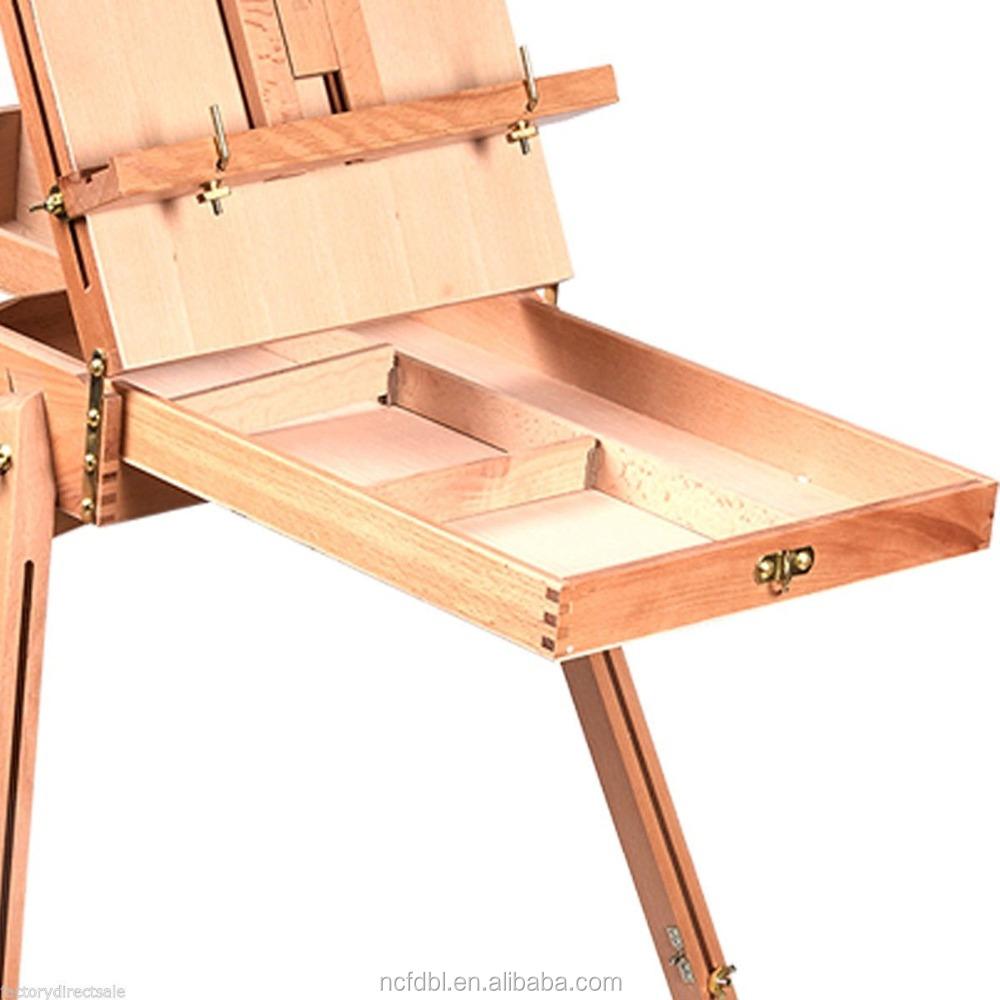 Mesa de caballete de madera para acuarela artista - Caballetes para mesa ...