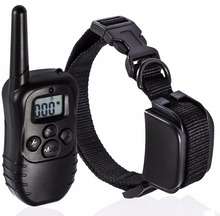 LCD Screen Control with 100 Level puppy training collar, pet trainer shock collar, shock training collar