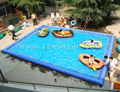 Amusement park swimming inflatable pool,inflatable swimming pitch,inflatable lagoon for sale